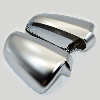 Matt Chrome Side Wing Mirror Cover Shell Cap Housing Cover Case Set For Audi A4 S4 B6 B7 L+R Set Replacement