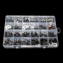 Push-Button Switch Reset DIP Diy-Kit Assorted Mini SMD Leaf 25types 250pcs/Box 2--4 6--6