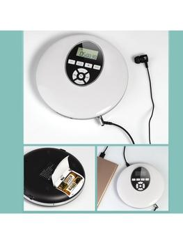 Estilo Redondo Reproductor de CD portátil, auriculares HiFi, Reproductor de música, Walkman de CD