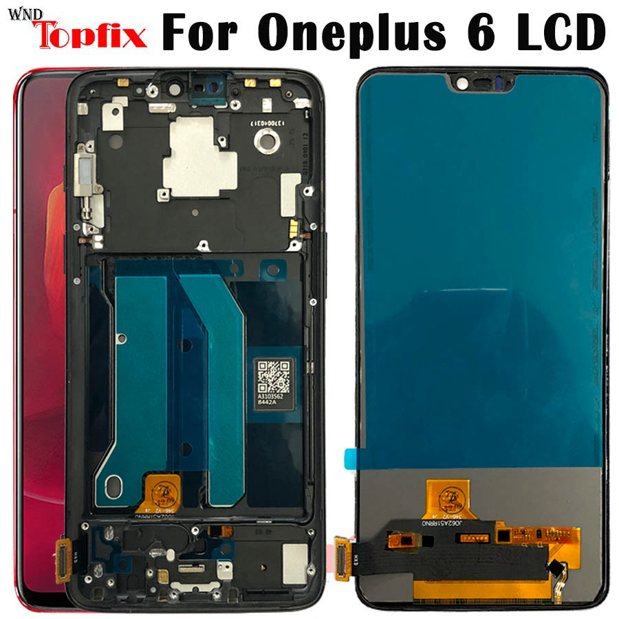 TFT For <font><b>Oneplus</b></font> 6 LCD Display Touch Screen Digitizer <font><b>A6000</b></font> LCD For 6.28