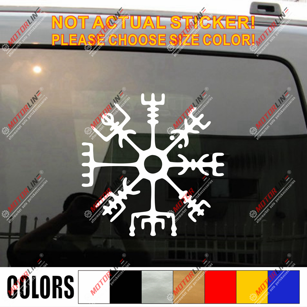 Vegvisir Viking Compass Decal Sticker Viking Odin Norse Norway Vinyl Pick Size