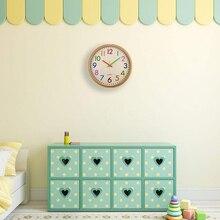 Бесшумные не тикающие настенные часы для детей, красочные декоративные часы на батарейках для детской комнаты, спальни, школы