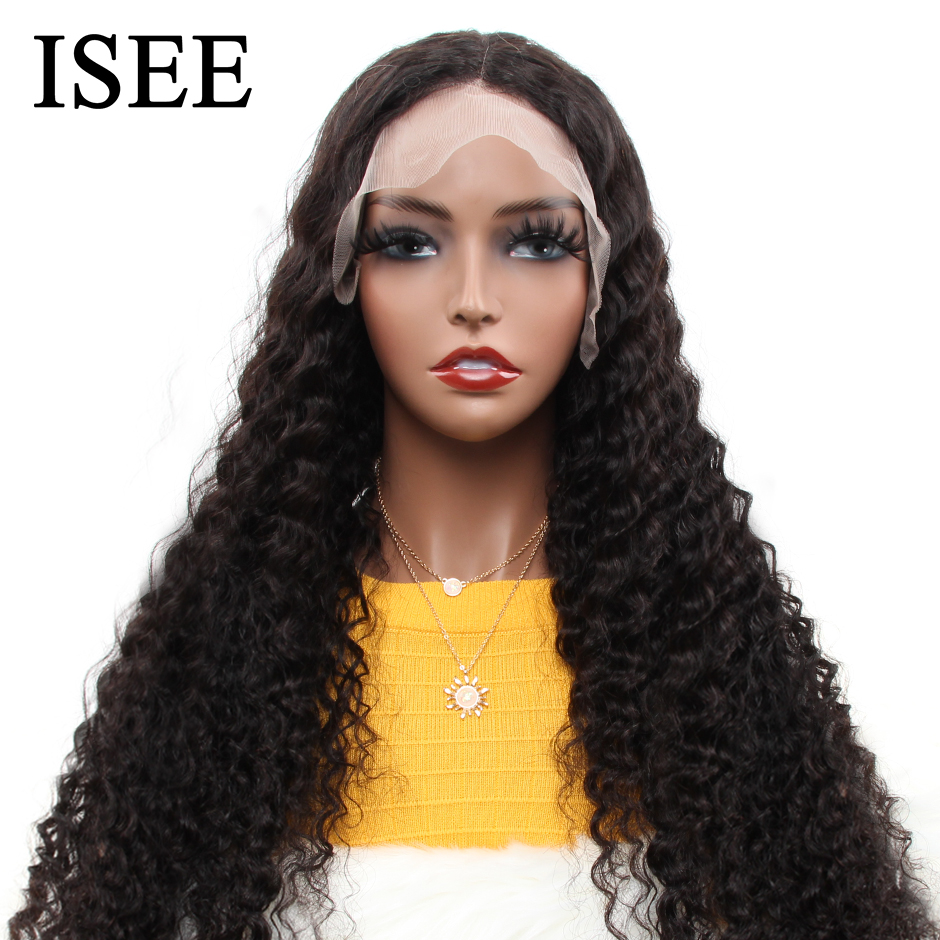 Brazilian Deep Wave Lace Front Human Hair Wigs For Women 150% Density ISEE HAIR Wigs Loose Deep Wave 360 Lace Frontal Wigs