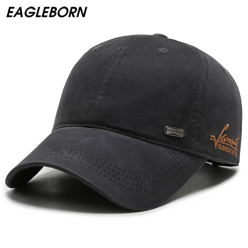 EAGLEBORN Мужская Высококачественная бейсболка, бейсболка с вышивкой, простой дизайн, шляпа для папы и дяди, хлопковая шапка среднего возраста, шапка для папы|Мужские бейсболки|   | АлиЭкспресс
