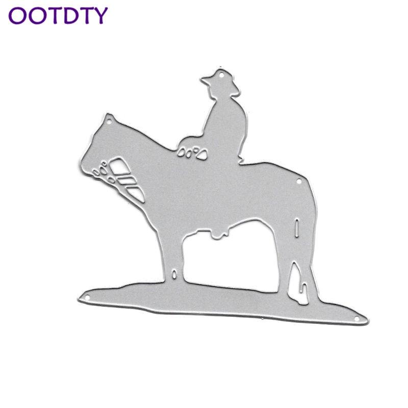 Horse Riding Metal Cutting Dies Stencil DIY Scrapbooking Album Stamp Paper Card Embossing Crafts Decor