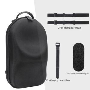 Image 3 - Taşınabilir sert EVA çanta koruyucu kapak saklama kutusu taşıma çantası kılıfı Oculus yarık için S PC güçlü VR oyun kulaklığı