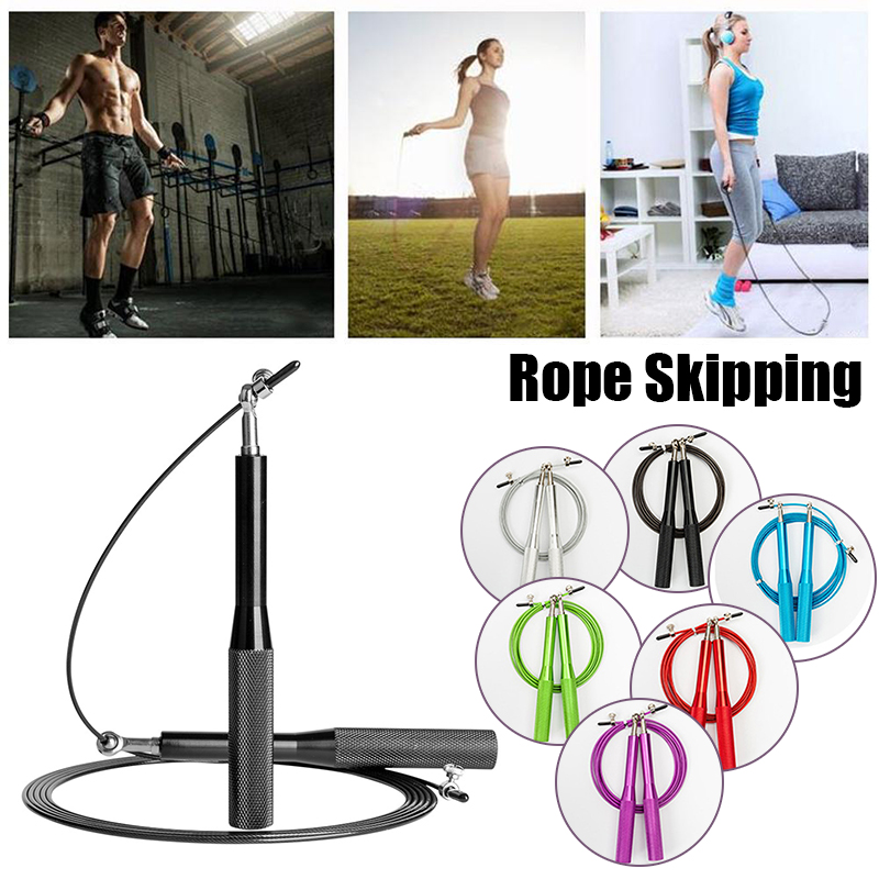 Jump <font><b>Rope</b></font> Ultra-speed <font><b>Skipping</b></font> <font><b>Rope</b></font> Steel Wire jumping <font><b>ropes</b></font> 3 Meters Aluminum <font><b>Handle</b></font> Bearing Sports Speed Gym Fitness Supplies image