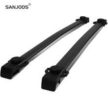 SANJODS Roof Rack Pair OE Style Aluminum Roof Rack Top Rail Cross Bars Cargo Luggage Carrier Replacement for Jeep Patriot 07-17 sanjods car roof rack pair roof rack top rail aluminum cross bar replacement for toyota rav4 adventure 2019 2020