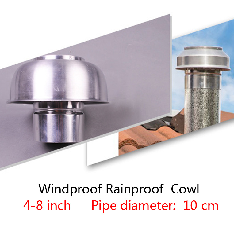 1Pcs 4-8 Inch  Aluminum Mushroom Cowl For Air Roof Vent Heat Recovery Ventilation System  Anti-mosquito Windproof Rainproof