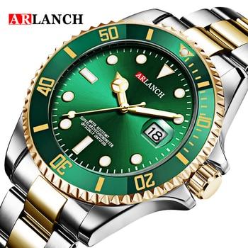 Ouro prata verde água fantasma aço inoxidável marca superior luxo rolexable gmt submariner esporte à prova dwaterproof água clássico relógios masculinos 1