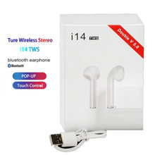 Asli I14 TWS Wireless Earphone Bluetooth Headset Invisible Earbud untuk Ponsel Pintar PK I11 I12 I13 I15 I7s I20 I60 i30(China)