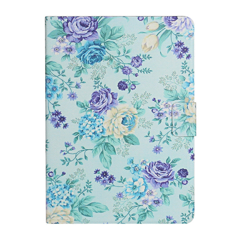 purple Yellow Case for iPad 7th Generation Case Flower Painted Cover Funda for Apple iPad 10 2 2019