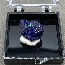 Natural azul mineral cristal da província de anhui, china. + Box3.5cm H9