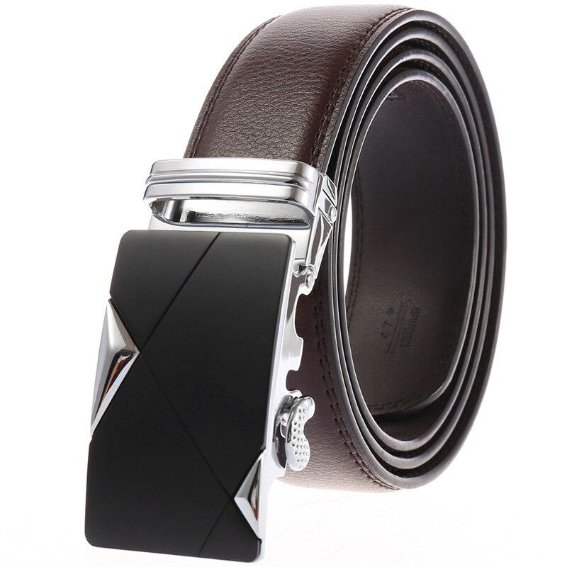 2019 Men Belt Male Genuine Leather Strap Belts For Men Top Quality Automatic Buckle black Belts Cummerbunds cinturon hombre