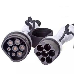 Image 5 - 32a Een Fase Ev Kabel Type 2 Naar Type 2 Lente Draad Ev Oplader Voor Elektrische Voertuig Iec 62196 32a evse Kit
