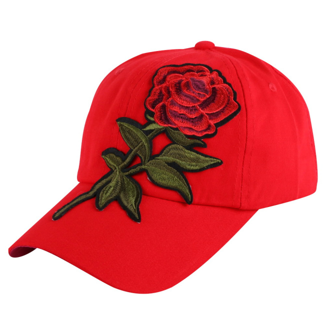 Girl Beauty Baseball Cap Brand hat Embroidery Floral Style Snapback Hats Casual Woman Luxury caps