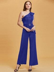 Image 4 - Dressv темно синее длинное вечернее платье, Дешевое женское платье на одно плечо, без рукавов, для свадебвечерние НКИ, официальное платье, вечернее платье, es