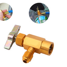 Klimatyzator samochodowy napełnianie czynnika chłodniczego zawór do otwierania butelek Adapter do tankowania narzędzie do kondycjonowania tanie tanio CN (pochodzenie) metal Bottle opener 3 5cm Bottle Opener Adapter 2020 5 5cm