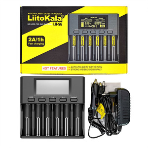 Image 3 - LiitoKala Lii 500S PD4 S6 500 battery charger For 3.7V 18650 26650 21700 1.2V ni mh AA AAA batteries Test the battery capacity