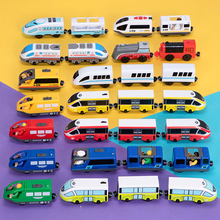 Kids Electric Train Toys Set Train Diecast Slot Toy Fit for Standard Wooden Railway Track Toy Interesting Toys for Children стоимость