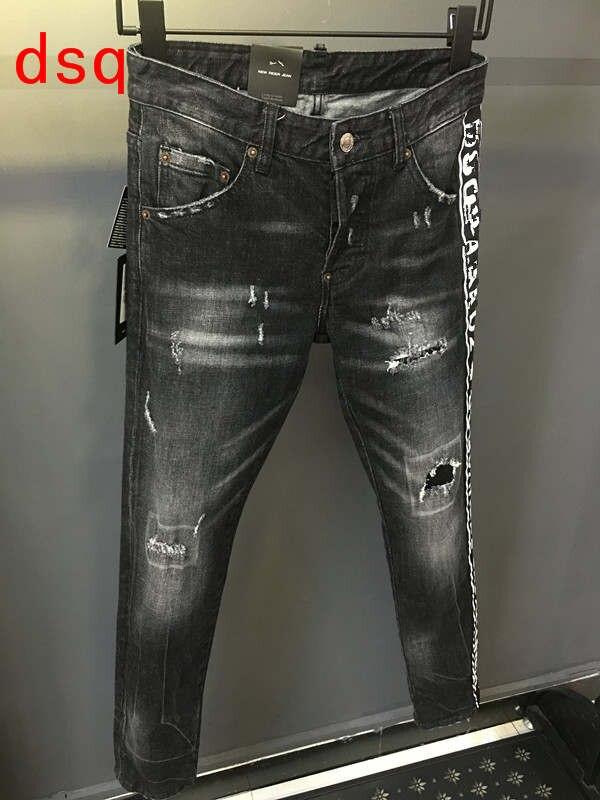 F.N.JACK 2019 Stylish Ripped   Jeans   Men Skinny   Jeans   Pants Mens   Jeans   Moto&Biker Men Slim Straight Denim Zipper Outwear Trousers