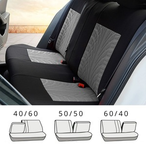 Image 2 - רקמה אוניברסלית רכב מושב מכסה סט Fit ביותר מכוניות מכסה עם צמיג מסלול פירוט סטיילינג רכב מושב מגן אביזרי רכב