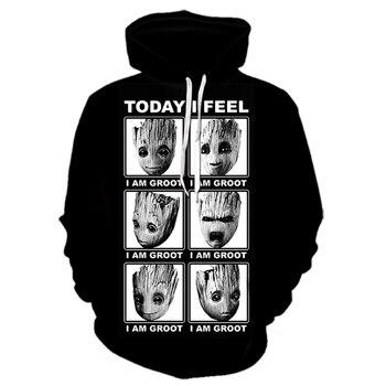 2019New arrival fashion movie Guardian of the Galaxy hoodies men women 3D print favorite harajuku style streetwear tops