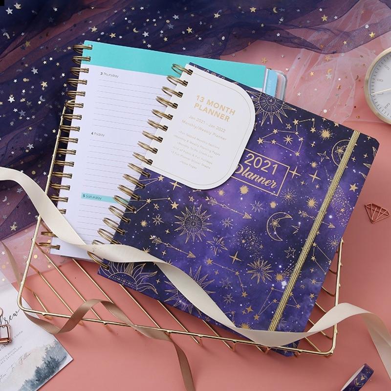 2021 Agenda Planner Organizer B5 Coil Notebook Journal Daily Monthly Weekly Schedule School Office S