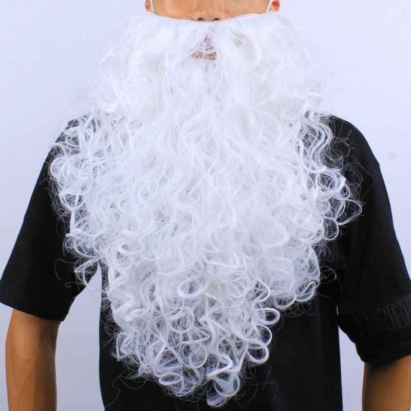 Grappige Nep Witte Kerstman Baard/Pruik Kerst Fancy Cosplay Kostuum Props Accessoires Voor Tieners Volwassenen