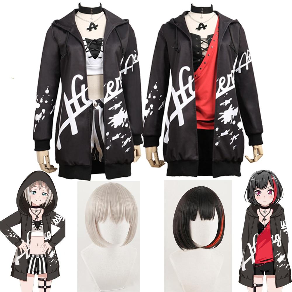 Anime BanG Dream ! Afterglow Second Key Visual Mitake Ran&Aoba Moca Daily Costume Anime Uniform Halloween Costume For Women Girl