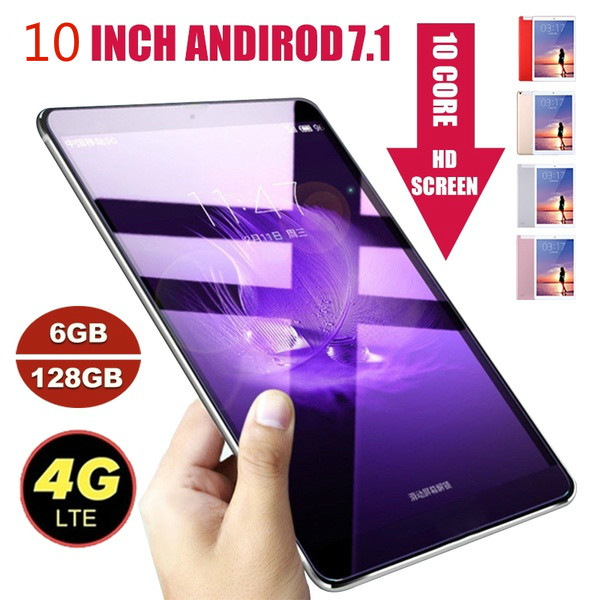 2019 Andriod 8.0 Ten Core 6G 10 Inches Screen New Original Dual SIM 4G Phone Tablet PC Mic WIFI RAM+16/64/128G TabletPC