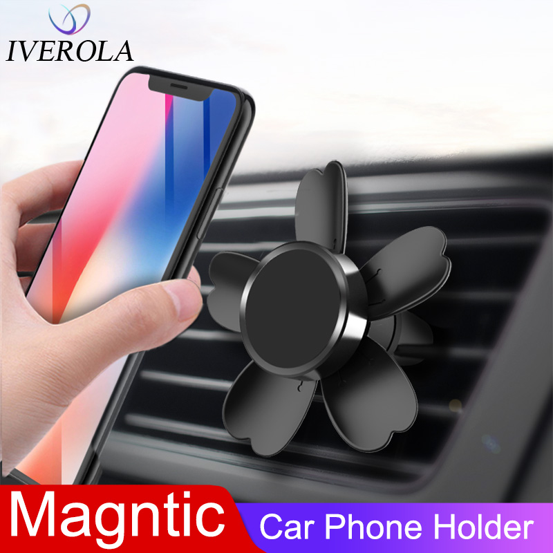 Univerola Magnetic Car Phone Holder For Air Vent Holder Universal All Smartphone Mount Clip Car Holder Support For IPhone 11 Pro