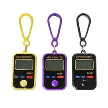 цена на LCD Digit Electronic Tally Counter 0-99999 Keychain Finger Counter For Sewing Knitting Weave Tool