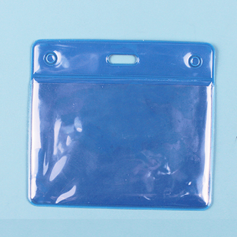 10 X Clear Vertical ID Badge Card Plastic Pocket Holder Pouches 100 X 83mm