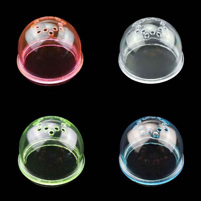 투명 아크릴 햄스터 터널 외부 튜브 스토퍼 플러그 엔드 캡 DIY 케이지 배플 액세서리 작은 애완 동물 장난감 용품 C42