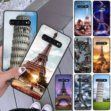 Tower of Pisa Soft Silicone TPU Phone Cover For Samsung S8 S8 Plus S9 S9 Plus S10 S10 plus S10E lite S10-5G S20 UITRA plus italian flag style graffiti leaning tower of pisa pattern case for samsung s6812 s6810 green