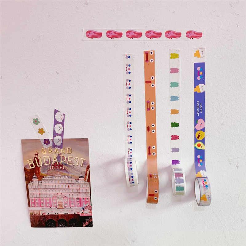 Coreano Nube Sorriso Viso Orso Adesivo Washi Nastro Adesivo FAI DA TE Nastro Adesivo Decorativo Per Diary Scrapbooking Decorazione Kawaii di Cancelleria