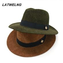 Новые Модные фирменные дизайнерские женские шапки с Пчелой, вязаные Панамы на осень и зиму, 8 цветов, ковбойская шляпа с полями, шляпа от солнца