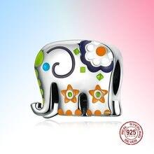 Таиланд Шарм Слон серебро 925 ювелирные изделия женские цветная