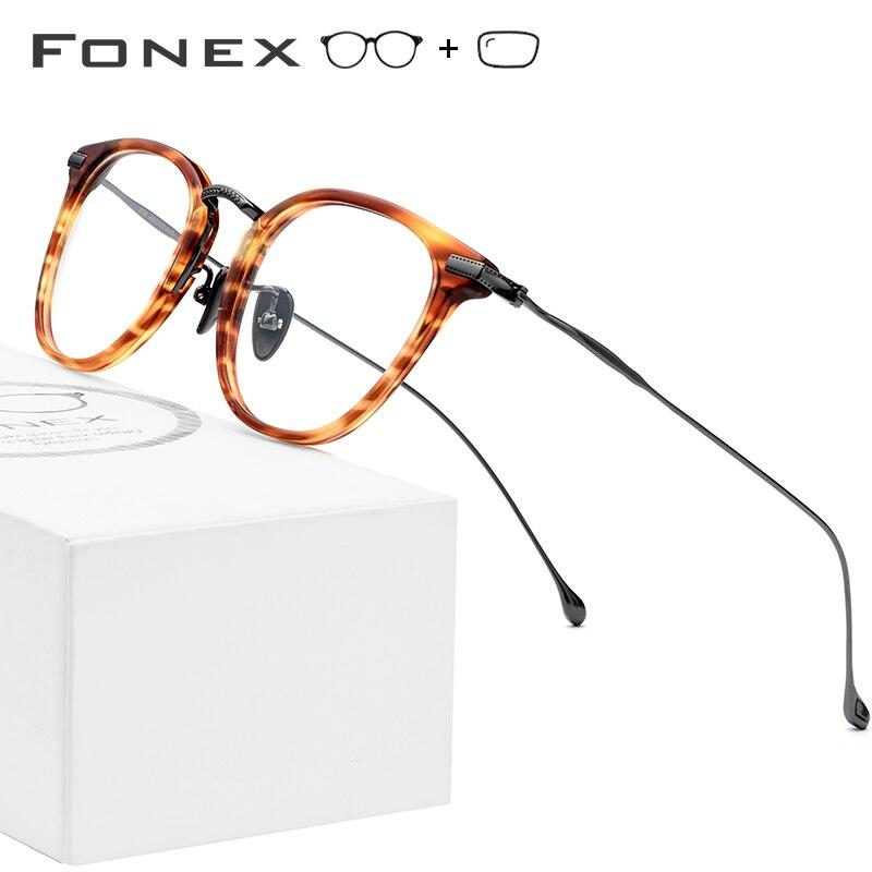 Pure B Titanium Optical Glasses Frame Men Vintage Square Prescription Eyeglasses Women Retro Round Myopia Spectacles