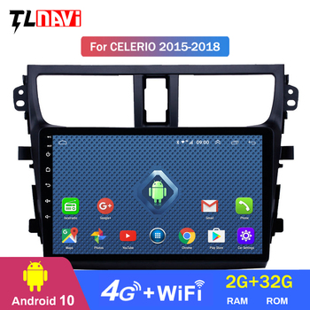 4G Lte 2G RAM for 2015-2018Suzuki Celerio Android 10 IPS screen 9 inch Head Unit car GPS Radio with AUX image