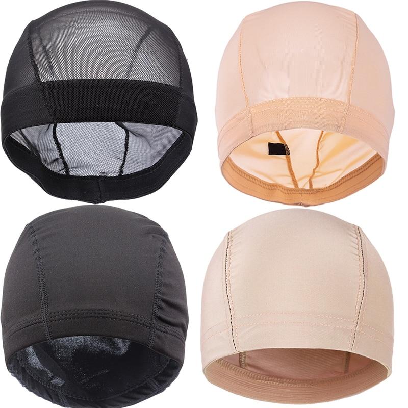 Сетчатая плетеная шапка AliLeader, черный, бежевый, светлый цвет, дышащий, эластичный, спандекс, купольная шапочка для париков s, M, L
