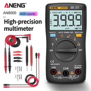 ANENG AN8000 Digital Multimeter 4000 counts profesional capacitor tester esrs meter richmeters inductance meter digital tester zeast vc97 digital multimeter 3 3 4 capacitor frequency tester meter professional electric leads instruments lcd probe