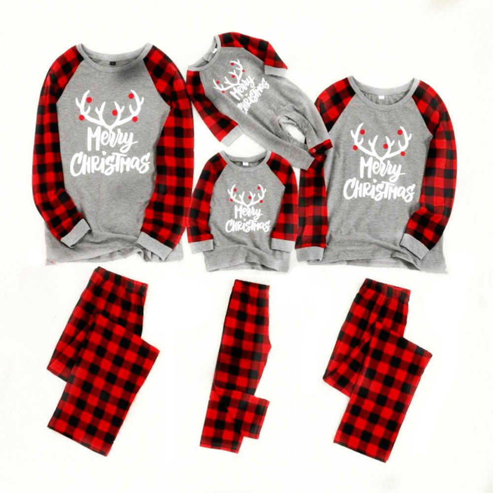 Cotton New Christmas Pajamas Family Christmas Pajamas Set Pyjamas Kids Sleepwear Family Outfits Men Pajamas Set Pyjamas Women