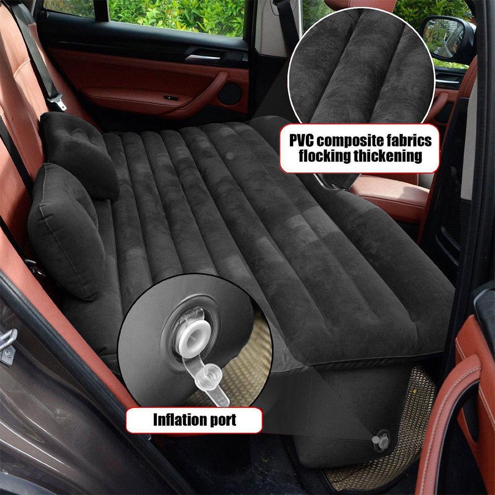 Car Air Inflatable Travel Mattress Bed Car Back Seat Mattress Multifunctional Sofa Pillow 3 Colors Outdoor Camping Mat Cushion