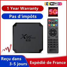 Best Iptv Box X96 mini TV Box tv box Android 9.0 s905w4 4k 1G 8G 2G 16G m3u Francais Smart Ip tv Set top box Ship From France