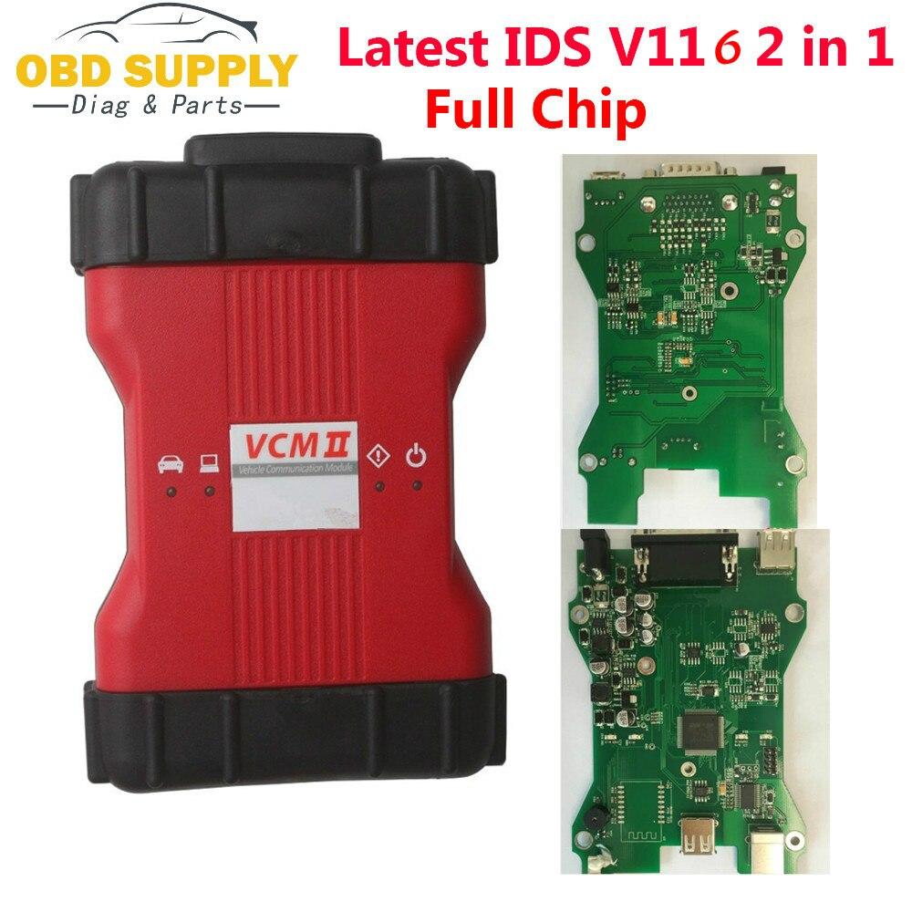 VCM II VCM2 полный чип автомобилей сканер для Ford VCM2 IDS V116 Mazda VCM2 IDS V116 диагностический инструмент 2 в 1