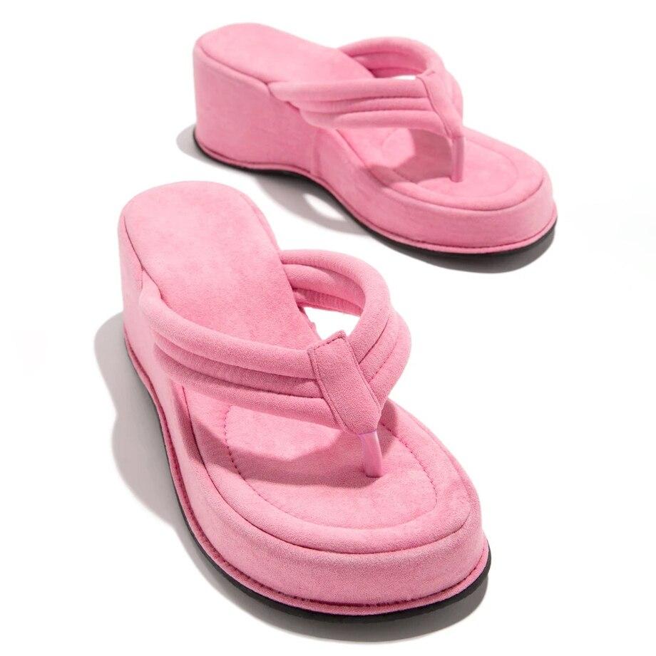 não deslizamento sola de borracha sapatos moda senhoras flip flops