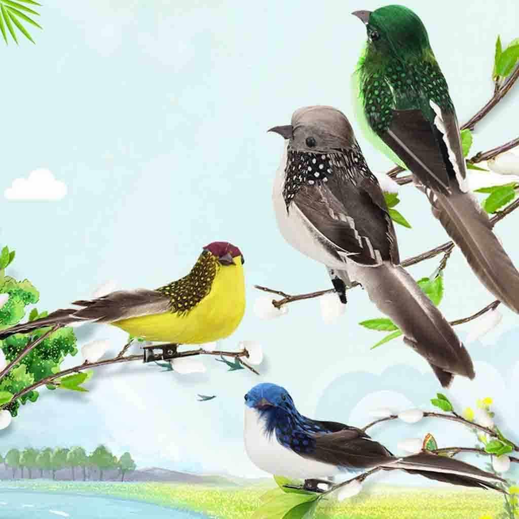 صغيرة وهمية الطيور الاصطناعي ريشة رغوة الحمائم الزفاف حديقة المنزل الديكور الحرف حلية قلادة متعدد الألوان وهمية الطيور 2020