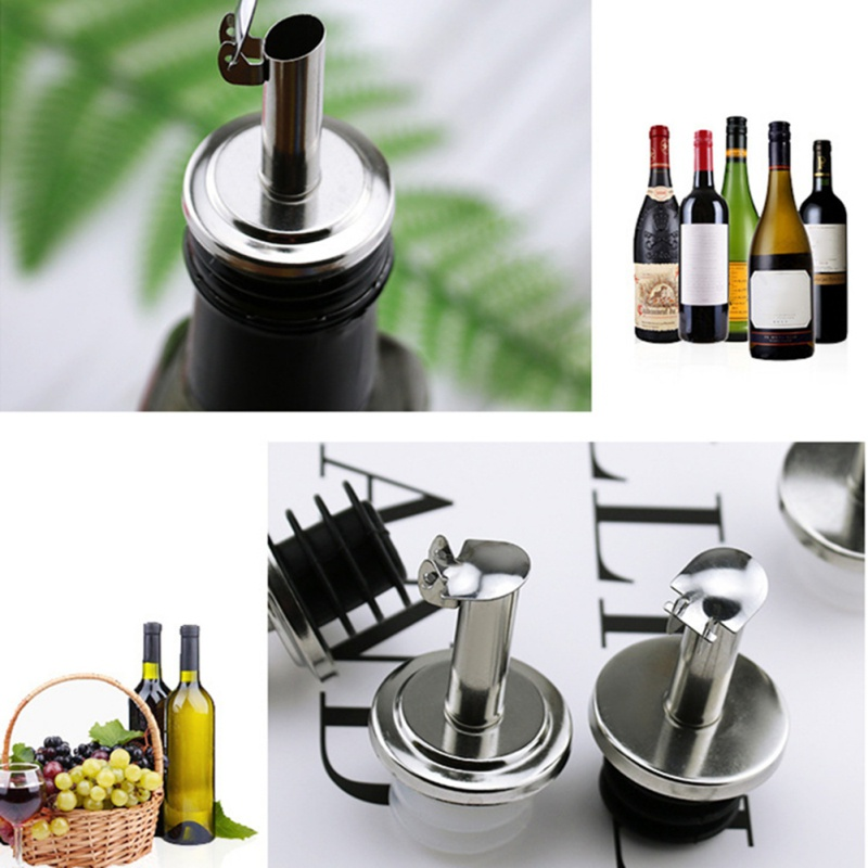 Нержавеющая сталь бутылка для масла пробка черная крышка домашняя кухня масло пробка для винной бутылки Бутылка Pourer с небольшой пробкой уп... - 4